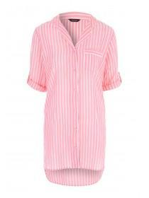 Womens Peach Boyfriend Nightshirt
