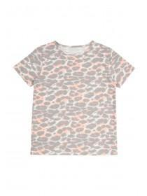 Older Girls Grey Leopard Pyjama Top