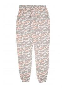 Older Girls Grey Leopard Pyjama Pants
