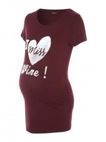 Womens Maternity Slogan T-Shirt