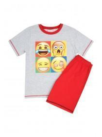 Older Boys Grey Emoji Pyjamas
