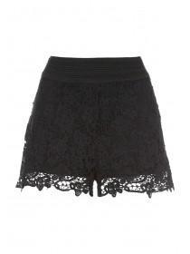 Womens Black Crochet Shorts