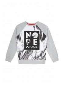 Older Boys Grey Nope Crew Sweater