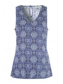 Womens Dark Blue Viscose Vest