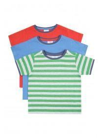 Younger Boys 3PK Green Stripe T-Shirts