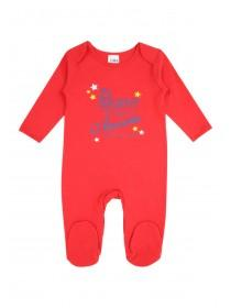 Baby Boys Red 'My Dad Is Awesome' Sleepsuit