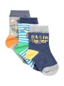 Baby Boy 3PK Digger Socks