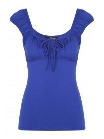 Jane Norman Blue Gypsy Top