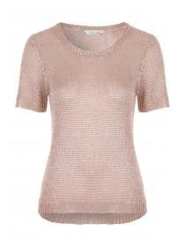 Womens Bronze Metallic Jumper