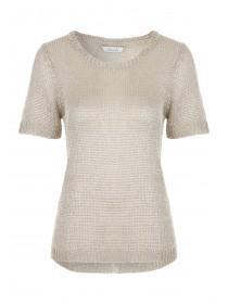 Womens Golden Metallic Jumper