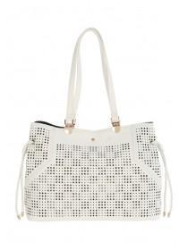 Womens White Libby Tote Bag