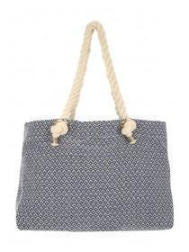 Womens Blue Roped Beach Bag