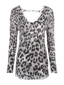 Womens Leopard Print Jumper