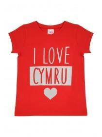 Younger Girls I Love Cymru T-Shirt