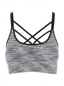 Womens Grey Sports Crop Top