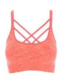 Womens Peach Sports Crop Top