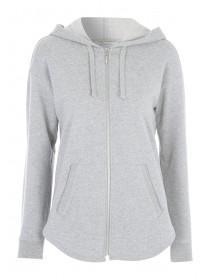 Womens Grey Zip Through Hoody