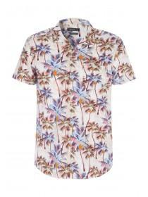 Mens Tan Palm Tree Shirt