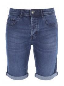 Mens Dark Blue Denim Shorts