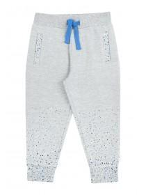 Younger Boys Grey Paint Splat Joggers
