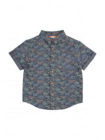 Younger Boys Blue Dino Shirt