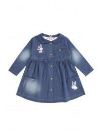 Baby Girls Blue Denim Jersey Dress