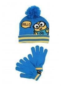 Younger Boys Minions Hat and Gloves