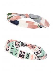 Older Girls 2PK Geo Headscarves