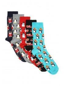 Mens 5pk Xmas Socks