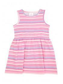 Younger Girls Pink Sleeveless Jersey Dress