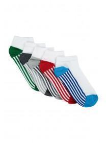 Boys 5PK White Trainer Socks
