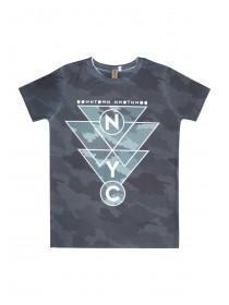 Older Boys Camo Geo Subliminal T-Shirt