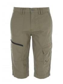 Mens Khaki 3/4 Ripstop Shorts