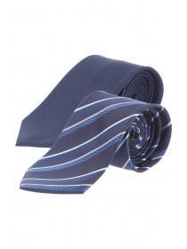 Mens Twin Pack Striped Ties