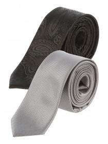 Mens Twin Pack Paisley Ties