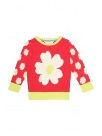 Girls Sweater Shop Flower Crew Neck Jumper