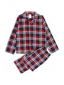 Older Boys Red Check Pyjama Set