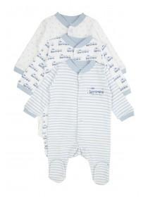 Baby Boys 3pk Assorted Sleepsuits