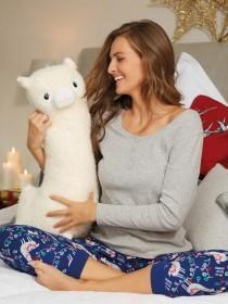 Large Cream Llama Soft Toy