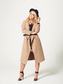 Jane Norman Beige Wrap Coat