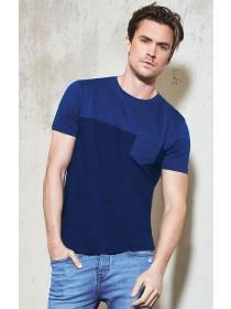 Mens Blue Pocket T-Shirt