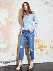 Womens Denim 365 Blue Boyfriend Jeans