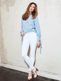 Womens White Denim 365 Skinny Jeans
