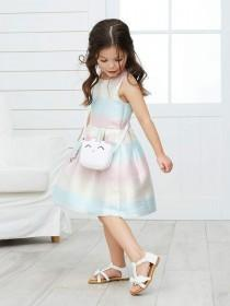 28fbe9a0b0242 Younger Girls Rainbow Party Dress ...