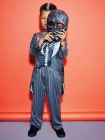 Kids Zombie Skeleton Fancy Dress Outfit