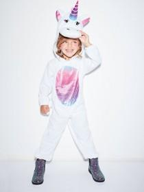 Kids White Unicorn Fancy Dress Outfit