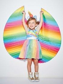 Kids Multicolour Unicorn Fairy Fancy Dress Outfit