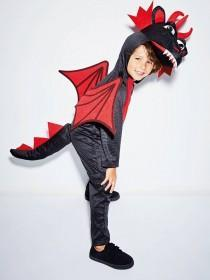 Kids Black Dragon Fancy Dress Outfit