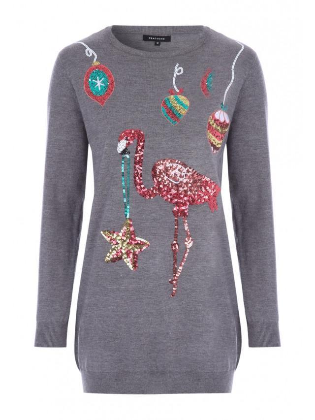 Womens Ladies Elf Reindeer Santa Christmas Long Sweatshirt Tunic Jumper Dress