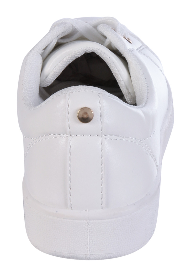 Womens White Lace Up Trainers | Peacocks